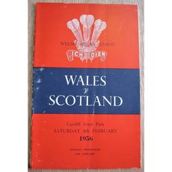 Wales V Scotland 1956 Rugby Union Programme Cardiff Arms Park