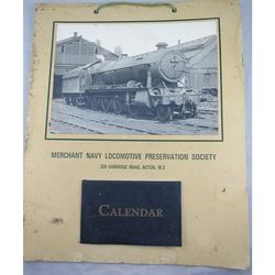 Merchant Navy Locomotive Preservation Trust Calendar 1969: Photo 4700