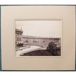 Friths Series Sepia Mounted Photograph of Bath Royal Crescent c 1880