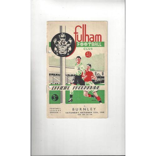 1949/50 Fulham v Burnley Football Programme