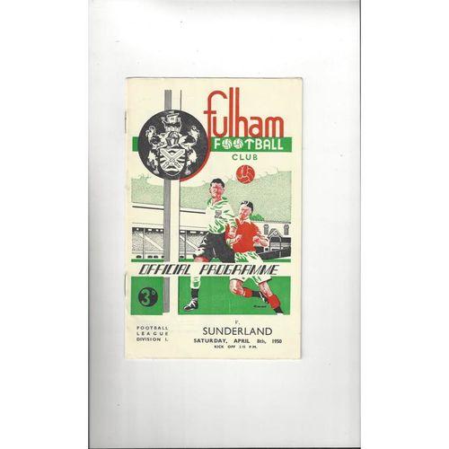 1949/50 Fulham v Sunderland Football Programme