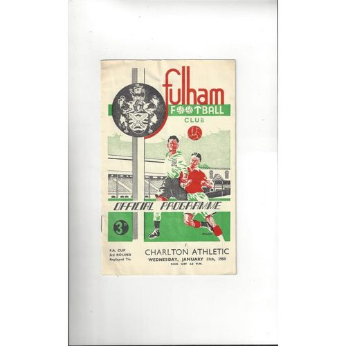 1949/50 Fulham v Charlton Athletic FA Cup Football Programme