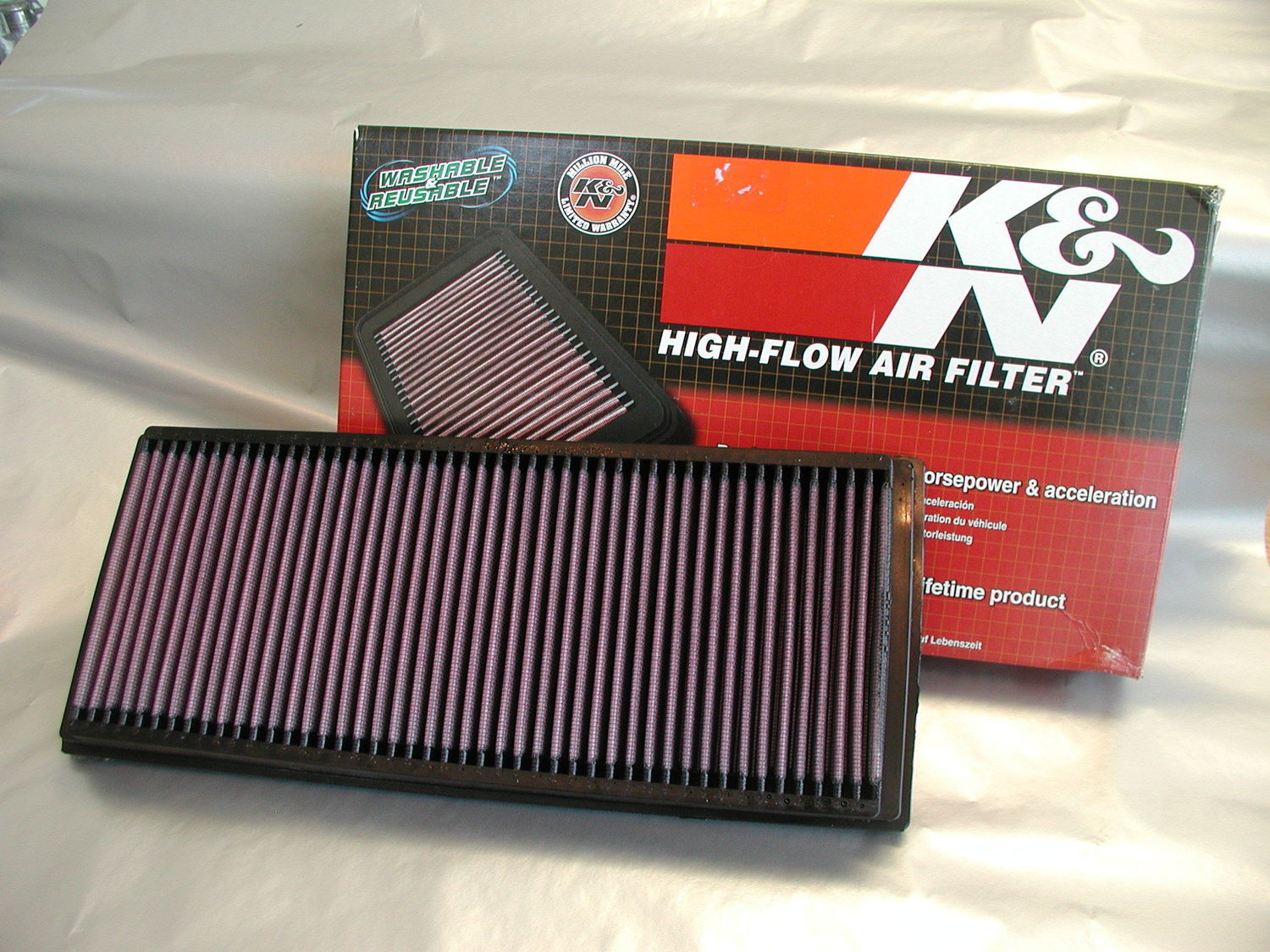 K&N High Flow Air Filter - Roadster