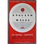 1951 Schools Cricket Association Match England V Wales Programme