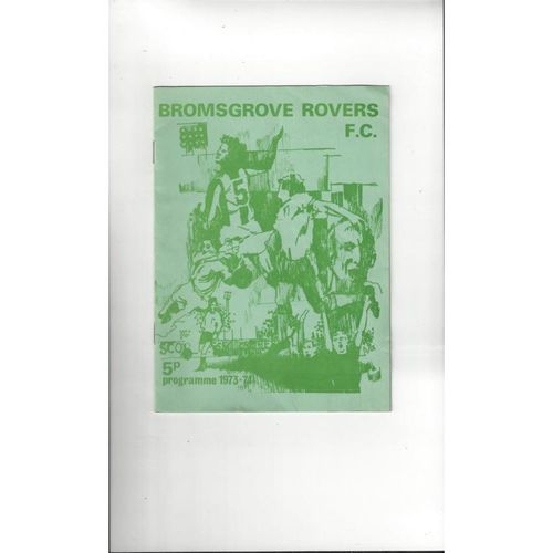 Bromsgrove Rovers v Kettering Town FA Trophy Football Programme 1973/74