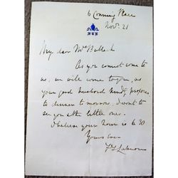 Unidentified Letter Bishop F.T of L..........