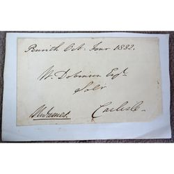 Unidentified Signed Envelope Thomas James Penrith (?)