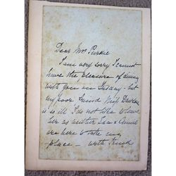 Annie Hector (Mrs Alexander- author) Signed 1884 Letter