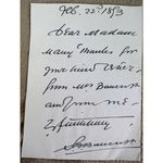 Sir Squire Bancroft Signed 1893 Letter Clip