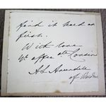 Anne Lucy Arundell of Wardour Signed Letter Clip