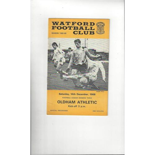 Oldham Athletic Away Football Programmes