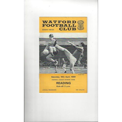 1968/69 Watford v Reading Football Programme