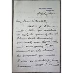 Lawrence/Laurence (London Standard....Editor?) 1901 signed letter