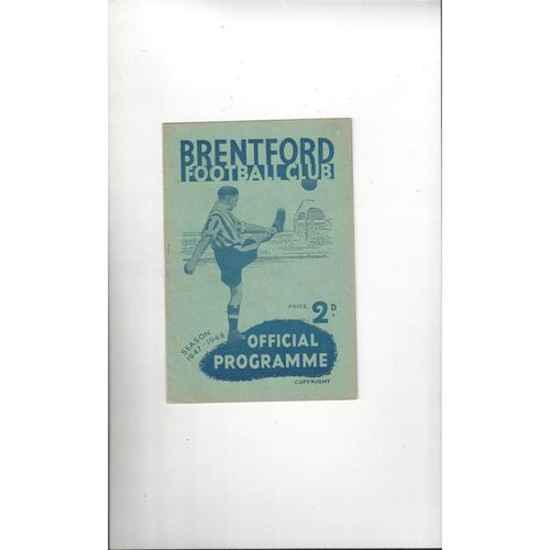 1947/48 Brentford v Fulham Football Programme