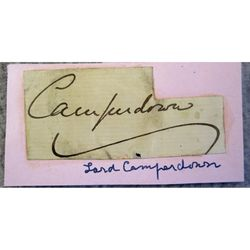 Robert Dundas Haldane-Duncan Earl of Camperdown Signature Clip
