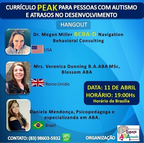 PEAK hangout in English and Portuguese