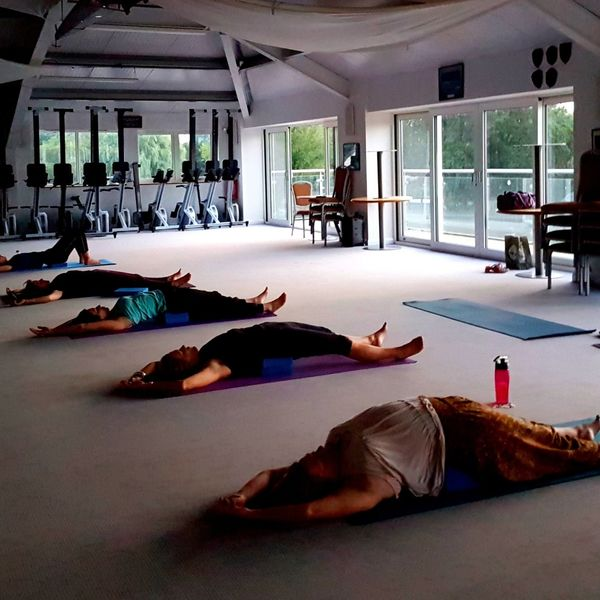 During the yoga class in Walton on Thames
