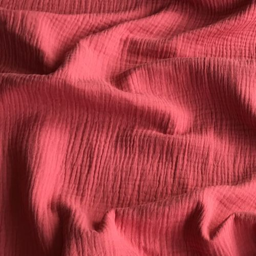 Coral Double Cotton Gauze