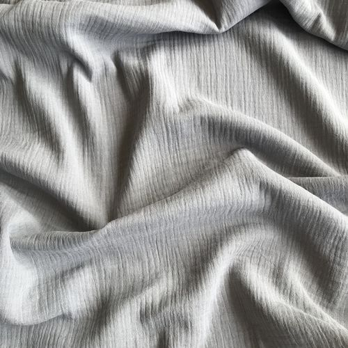 Grey Double Cotton Gauze