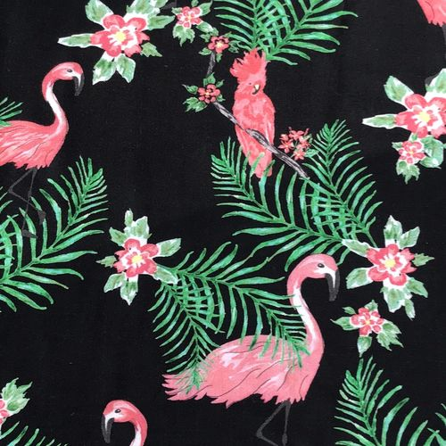 Lady McElroy All Pink In The Tropics Viscose High Twist Rickardi Lawn