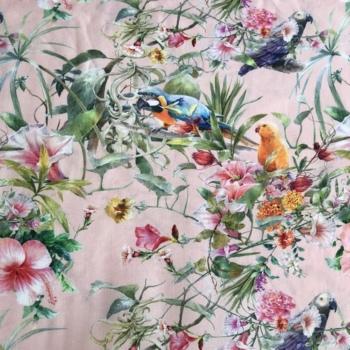 Lady McElroy Parrotdise Blush Viscose High Twist Rickardi Lawn
