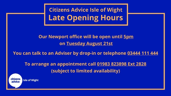 Late Opening Hours August 2018