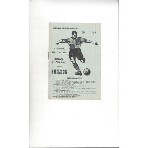 1960/61 Bishop Auckland v Shildon Football Programme