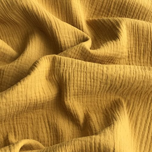 Gold Double Cotton Gauze 0.95m Remnant