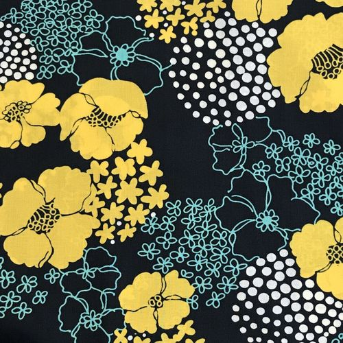Lady McElroy Bursts Of Beauty Canary Cotton Lawn