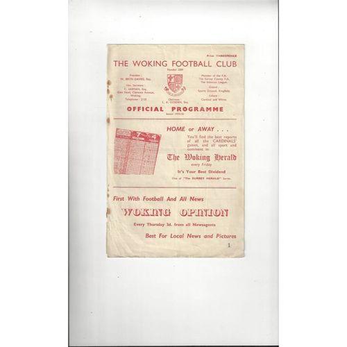 1955/56 Woking v Leytonstone Football Programme