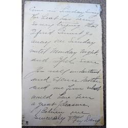 Fanny Davies, pianist, Signed Letter