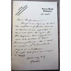 George Joachim Goschen, 1st Viscount Goschen Signed Letter Old Rugbeians