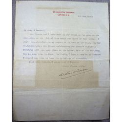 Sir Arthur Wing Pinero Signed 1899 Letter