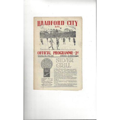Crewe Alexandra Away Football Programmes