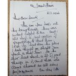 "Unidentified Actress ""Boo"" Letter from 114 Dorset House"