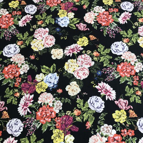 Lady McElroy Black Beauty Cotton Lawn