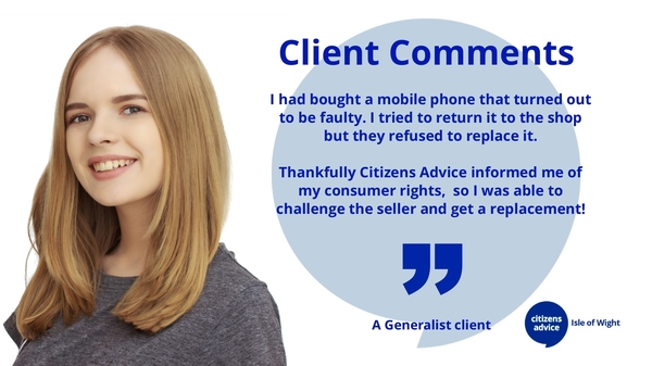 Client Comments - Consumer Rights