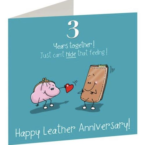 3rd Anniversary card