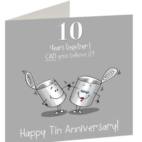 10th Anniversary card