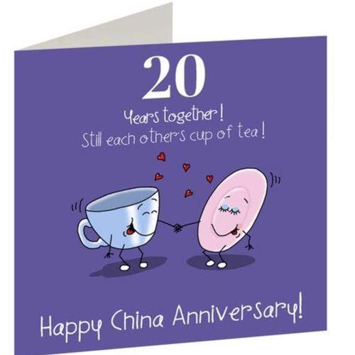20th Anniversary card