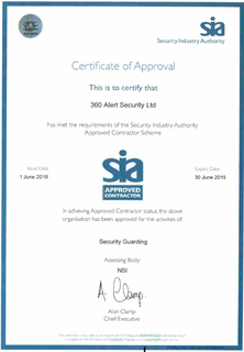 360 Alert Security Ltd Accreditations
