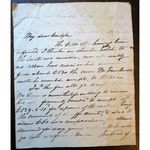 1835 Letter from J H Homer (?) to Carlyle Bell re Debt Offer