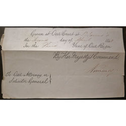Constantine H. Phipps 1st Marquess of Normanby, Signed Court St James 1840 Order