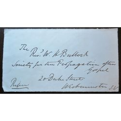 George Frederick Samuel Robinson, 1st Marquess of Ripon Signed Address clip