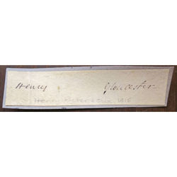 Henry (Ryder?) Gloucester (Bishop?) Signature Clip