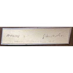 Henry (Ryder?) Gloucester (Bishop?) Signature Clip