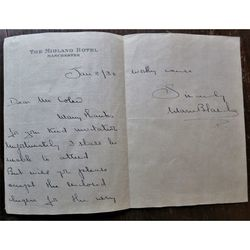 Marie Blanche Actress Signed Letter