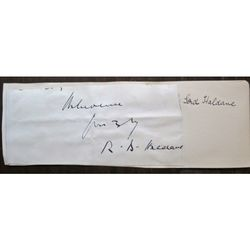 Richard Burdon Haldane, 1st Viscount Haldane , Signed Letter Clip