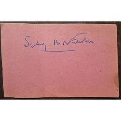 Sir Sydney Hugo Nicholson 1875-1947  (& Anna Instone/Ralph Hill BBC) Autographs