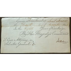 1844 Court of Saint James's Signed Part Document James Robert Graham Signature
